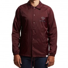 Diamond Supply Co. Futura Sign Coaches Jacket - Burgundy