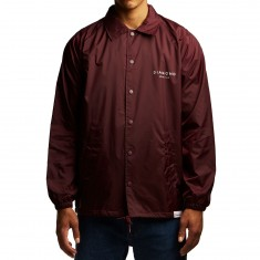 Diamond Supply Co. Stone Cut Coaches Jacket - Burgundy