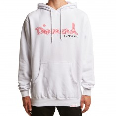 Diamond Supply Co. Neon OG Script Hoodie - White