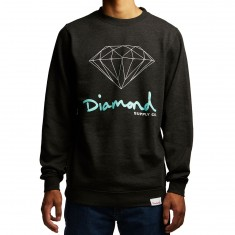 Diamond Supply Co. OG Sign Crewneck Sweatshirt - Charcoal Heather
