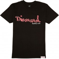 Diamond Supply Co. Neon OG Script T-Shirt - Black