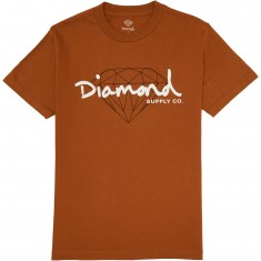 Diamond Supply Co. Brilliant Script T-Shirt - Burnt Orange