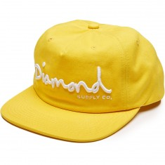 Diamond Supply Co. Og Script Unconstructed Snapback Hat - Yellow