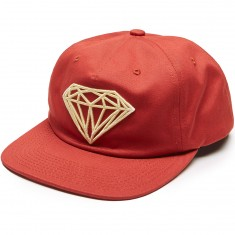 Diamond Supply Co. Brilliant Unconstructed Snapback Hat - Red