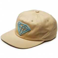 Diamond Supply Co. Brilliant Unconstructed Snapback Hat - Khaki