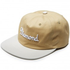 Diamond Supply Co. Champagne Strapback Hat - Khaki