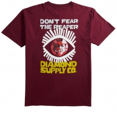 Diamond Supply Co. Reaper T-Shirt - Burgundy