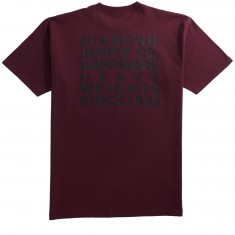 Diamond Supply Co. Vortex T-Shirt - Burgundy