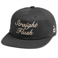 Diamond Supply Co. Straight Flush Unconstructed Strapback Hat - Black