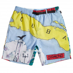 Diamond Supply Co. Havana Belted Shorts - Blue