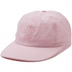 The Quiet Life Seersucker Polo Hat - Pink