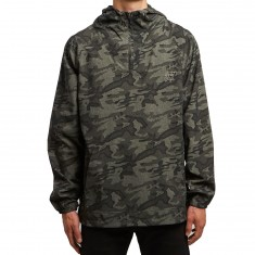 Quiet Life Camo Windy Pullover Jacket - Army