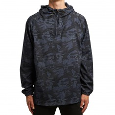 Quiet Life Camo Windy Pullover Jacket - Navy