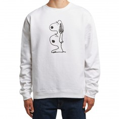 Quiet Life Double Dog Crewneck Sweatshirt - White