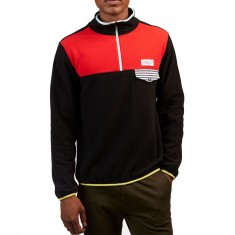 Quiet Life Zion Polar Fleece Sweatshirt - Black/Red