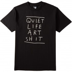 Quiet Life Art Shit T-Shirt - Black