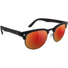 Glassy Attach Polarized Sunglasses - Matte Black/Red Mirror