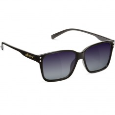 Glassy Fritz Sunglasses - Black/Purple Mirror