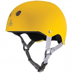 Triple Eight Sweatsaver Helmet - Yellow Rubber