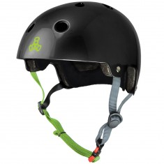 Triple Eight Dual Certified EPS Helmet - Black/Zest Gloss