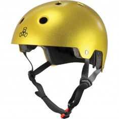 Triple Eight Dual Certified EPS Helmet - Gold Flake