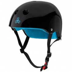Triple Eight Certified Sweatsaver Helmet - Black Gloss