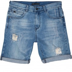 Globe Select Ripped Demin Walk Shorts - Blue Ripped
