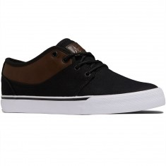 Globe Mahalo Shoes - Black Twill/Brown