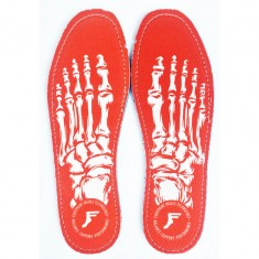 Footprint King Foam Flat Insoles Insoles - Skeleton Red