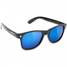 Glassy Leonard Sunglasses - Black/Blue Mirror