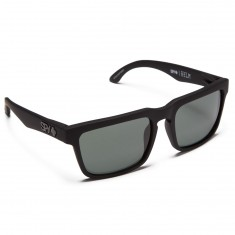 Spy Helm Sunglasses - Soft Matte Black/Happy Gray Green