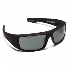 Spy Logan Sunglasses - Soft Matte Black/Happy Gray Green