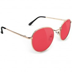 Glassy Ridley Sunglasses - Gold/Red Lens