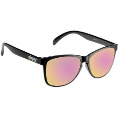 Glassy Deric Sunglasses - Black/Pink Mirror