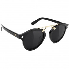Glassy Swift Sunglasses - Black/Gold Polarized