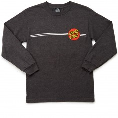 Santa Cruz Classic Dot Long Sleeve T-Shirt - Charcoal Heather