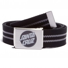 Santa Cruz Striped Dot Web Belt - Black/Silver
