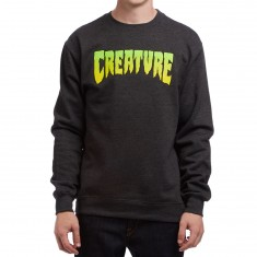 Creature Logo Crew Neck Sweatshirt - Charcoal Heather