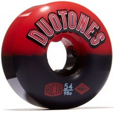 Ricta Duo Tones 98a Skateboard Wheels - Red/Black - 54mm