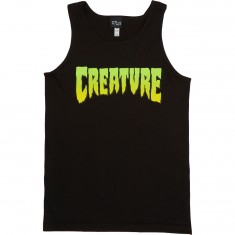 Creature Logo Fit Tank Top - Black