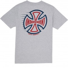 Independent T/C Speeding Cross T-Shirt - Athletic Heather