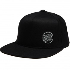 Santa Cruz Slight Dot Snapback Hat - Black/Grey