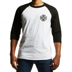 Independent Past Present Future 3/4 Sleeve Raglan T-Shirt - White/Black