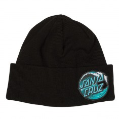 Santa Cruz Wave Dot Beanie - Black