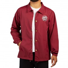 Santa Cruz Pinstripe Dot Coaches Jacket - Maroon