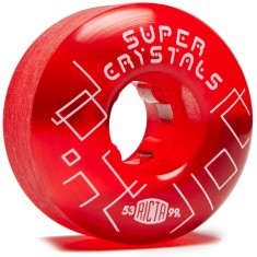 Ricta Super Crystals 99a Skateboard Wheels - Red - 53mm