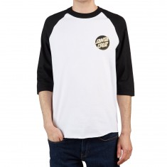 Santa Cruz Other Dot 3/4 Sleeve Raglan T-Shirt - White/Black/Black/Gold