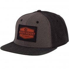 Independent Skateboard Trucks Industrial Snapback Hat - Grey/ Black