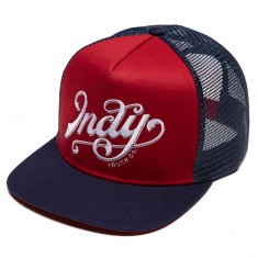 Independent Skateboard Trucks Lit Trucker Hat - Cardinal/Navy