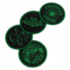 Creature Skateboards Fiend Club Patch Set - Black/ Green